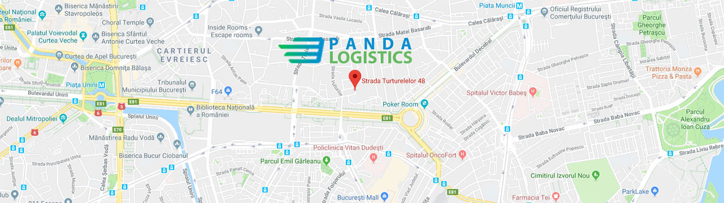 Contact hartă Panda Logistics SRL